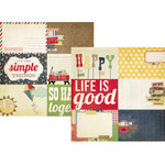Simple Stories - Summer Fresh Collection - 12 x 12 Double Sided Paper - Journaling Card Elements 2