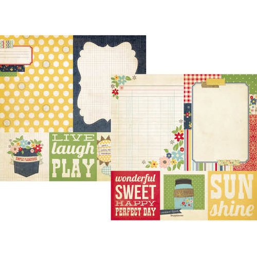 Simple Stories - Summer Fresh Collection - 12 x 12 Double Sided Paper - Quote and Photo Mat Elements