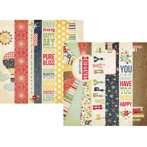 Simple Stories - Summer Fresh Collection - 12 x 12 Double Sided Paper - Border and Title Strip Elements