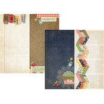 Simple Stories - Summer Fresh Collection - 12 x 12 Double Sided Paper - Page Elements