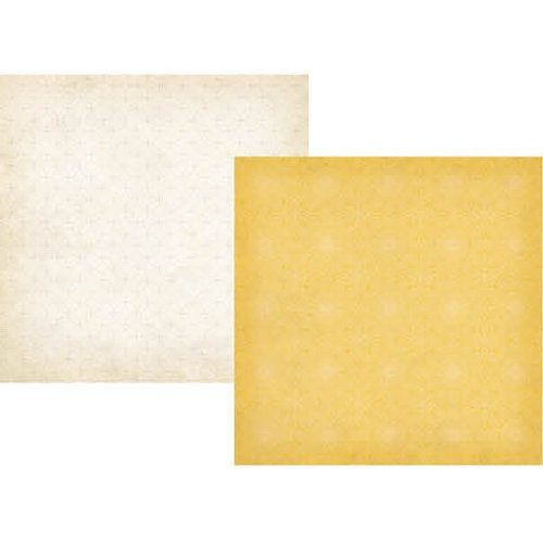 Simple Stories - Summer Fresh Collection - 12 x 12 Double Sided Paper - Yellow Lace