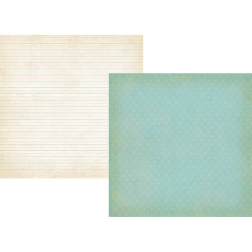 Simple Stories - Summer Fresh Collection - 12 x 12 Double Sided Paper - Sky Blue Daisy