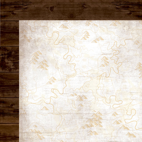 Simple Stories - Take a Hike Collection - 12 x 12 Double Sided Paper - Brown Wood