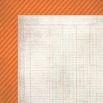Simple Stories - Take a Hike Collection - 12 x 12 Double Sided Paper - Orange Stripe