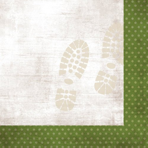 Simple Stories - Take a Hike Collection - 12 x 12 Double Sided Paper - Green Dots