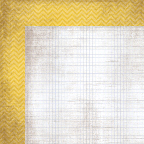 Simple Stories - Take a Hike Collection - 12 x 12 Double Sided Paper - Yellow Chevron