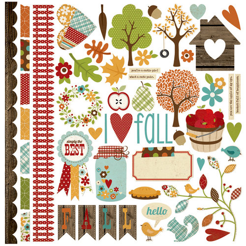 Simple Stories - Harvest Lane Collection - 12 x 12 Cardstock Stickers - Fundamentals