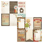 Simple Stories - Harvest Lane Collection - 12 x 12 Double Sided Paper - Vertical Journaling Card Elements
