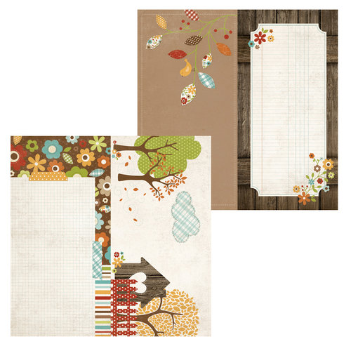 Simple Stories - Harvest Lane Collection - 12 x 12 Double Sided Paper - Page Elements