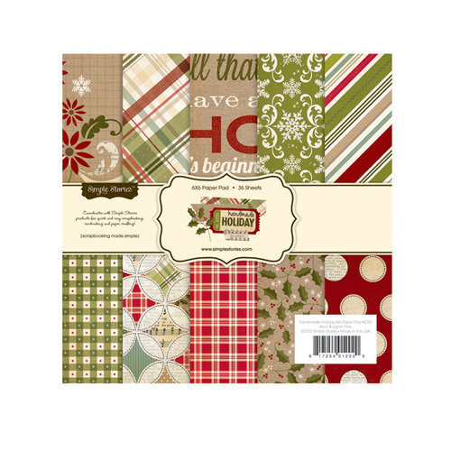 Simple Stories - Handmade Holiday Collection - Christmas - 6 x 6 Paper Pad
