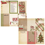 Simple Stories - Handmade Holiday Collection - Christmas - 12 x 12 Double Sided Paper - Vertical Journaling Card Elements