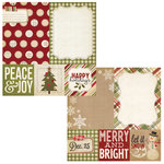 Simple Stories - Handmade Holiday Collection - Christmas - 12 x 12 Double Sided Paper - Quote and Photo Mat Elements