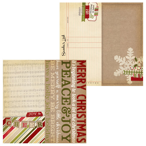 Simple Stories - Handmade Holiday Collection - Christmas - 12 x 12 Double Sided Paper - Page Elements
