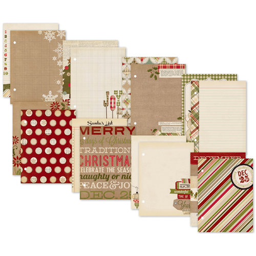 Simple Stories - SNAP Collection - Christmas - 6 x 8 Journal Inserts - Handmade Holiday