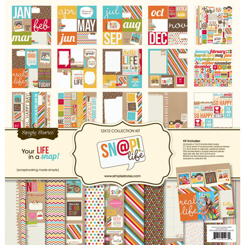 Simple Stories - SNAP Life Collection - 12 x 12 Collection Kit