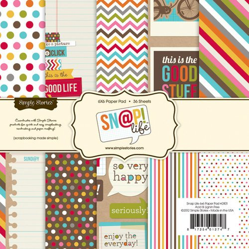 Simple Stories - SNAP Life Collection - 6 x 6 Paper Pad