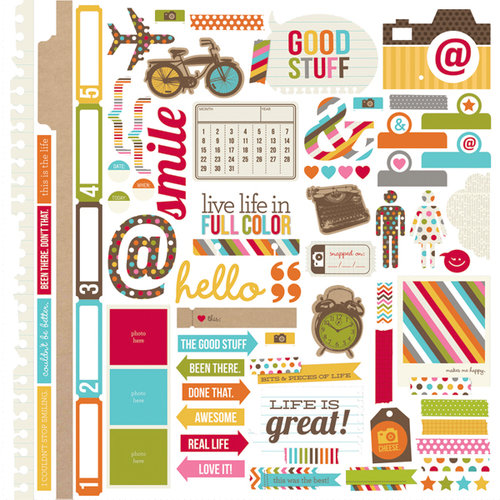 Simple Stories - SNAP Life Collection - 12 x 12 Cardstock Stickers - Fundamentals