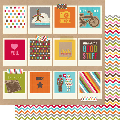 Simple Stories - SNAP Life Collection - 12 x 12 Double Sided Paper - SNAP Polaroids