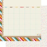 Simple Stories - SNAP Life Collection - 12 x 12 Double Sided Paper - SNAP Calendar