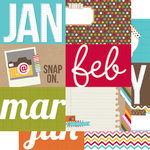 Simple Stories - SNAP Life Collection - 12 x 12 Double Sided Paper - SNAP Journaling Card Elements 1
