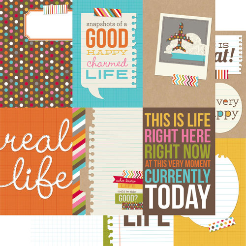 Simple Stories - SNAP Life Collection - 12 x 12 Double Sided Paper - SNAP Vertical Journaling Card Elements