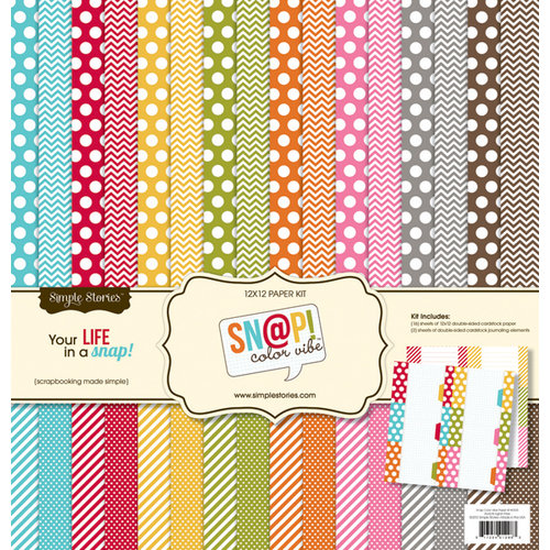 Simple Stories - SNAP Color Vibe Collection - 12 x 12 Paper Kit