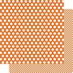 Simple Stories - SNAP Color Vibe Collection - 12 x 12 Double Sided Paper - Orange Dot