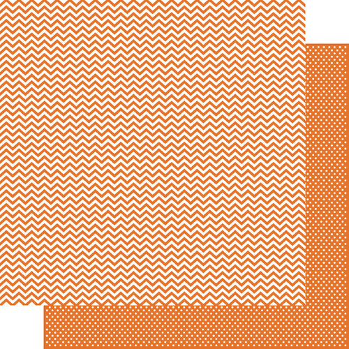 Simple Stories - SNAP Color Vibe Collection - 12 x 12 Double Sided Paper - Orange Chevron