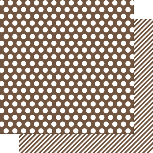 Simple Stories - SNAP Color Vibe Collection - 12 x 12 Double Sided Paper - Brown Dot