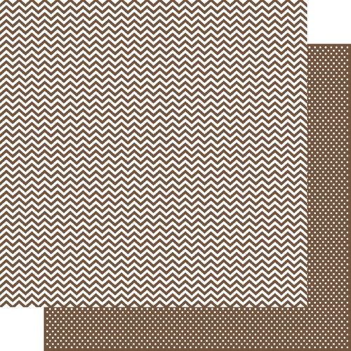 Simple Stories - SNAP Color Vibe Collection - 12 x 12 Double Sided Paper - Brown Chevron