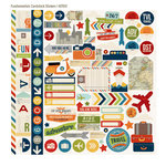 Simple Stories - Urban Traveler Collection - 12 x 12 Cardstock Stickers - Fundamentals