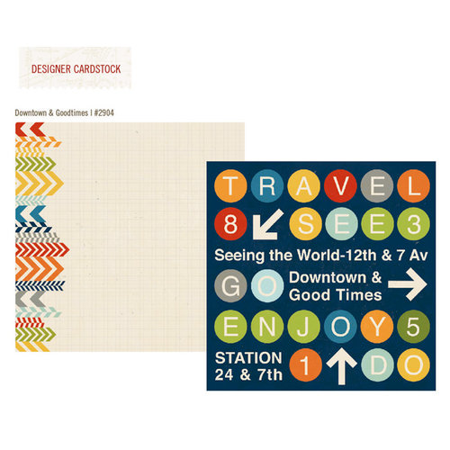 Simple Stories - Urban Traveler Collection - 12 x 12 Double Sided Paper - Downtown and Good Times