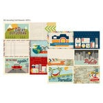 Simple Stories - Urban Traveler Collection - 12 x 12 Double Sided Paper - 4 x 6 Horizontal Journaling Card Elements