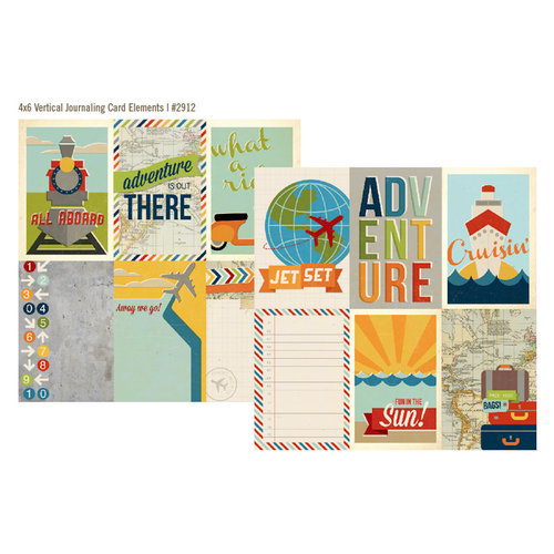 Simple Stories - Urban Traveler Collection - 12 x 12 Double Sided Paper - 4 x 6 Vertical Journaling Card Elements