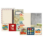 Simple Stories - Urban Traveler Collection - 12 x 12 Double Sided Paper - Quote and Photo Mat Elements