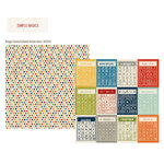 Simple Stories - Urban Traveler Collection - 12 x 12 Double Sided Paper - Bingo Cards