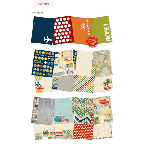 Simple Stories - SNAP Collection - 6 x 8 Journal Inserts - Urban Traveler