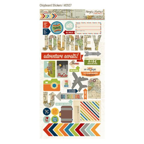 Simple Stories - Urban Traveler Collection - Chipboard Stickers
