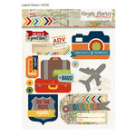Simple Stories - Urban Traveler Collection - Layered Stickers