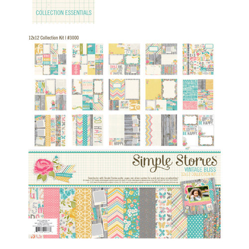 Simple Stories - Vintage Bliss Collection - 12 x 12 Collection Kit