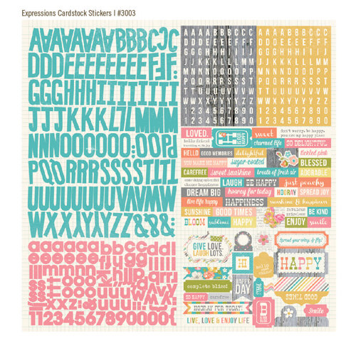 Simple Stories - Vintage Bliss Collection - 12 x 12 Cardstock Stickers - Expressions