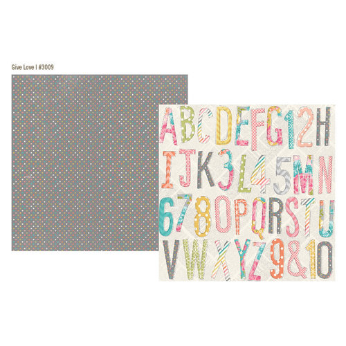 Simple Stories - Vintage Bliss Collection - 12 x 12 Double Sided Paper - Give Love