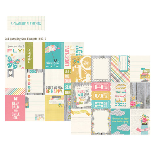 Simple Stories - Vintage Bliss Collection - 12 x 12 Double Sided Paper - 3 x 4 Journaling Card Elements