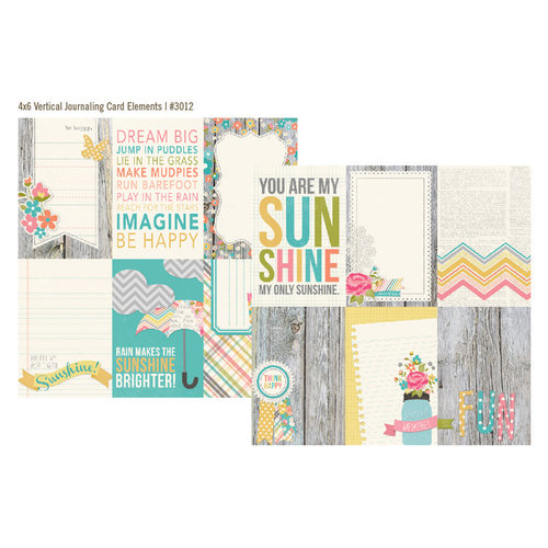 Simple Stories - Vintage Bliss Collection - 12 x 12 Double Sided Paper - 4 x 6 Vertical Journaling Card Elements