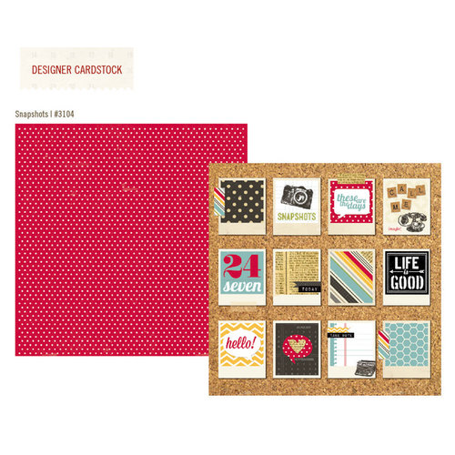 Simple Stories - 24 Seven Collection - 12 x 12 Double Sided Paper - Snapshots