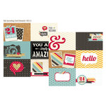 Simple Stories - 24 Seven Collection - 12 x 12 Double Sided Paper - 4 x 6 Horizontal Journaling Card Elements