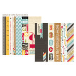 Simple Stories - 24 Seven Collection - 12 x 12 Double Sided Paper - Border and Title Elements