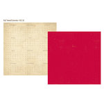 Simple Stories - 24 Seven Collection - 12 x 12 Double Sided Paper - Red Tweed
