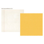 Simple Stories - 24 Seven Collection - 12 x 12 Double Sided Paper - Yellow Honeycomb