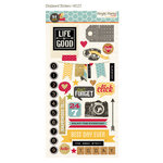 Simple Stories - 24 Seven Collection - Chipboard Stickers